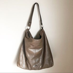 BCBGMAXAZRIA large weekender hobo tote leather.
